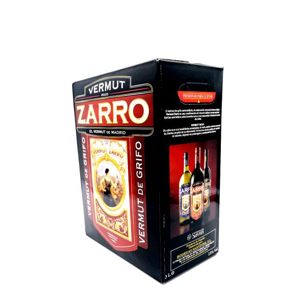 VERMUT ROJO ZARRO BAG IN BOX 3 LTRS.